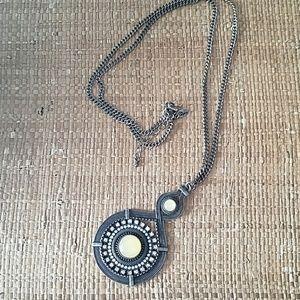 Lia Sophia Long Medallion Necklace